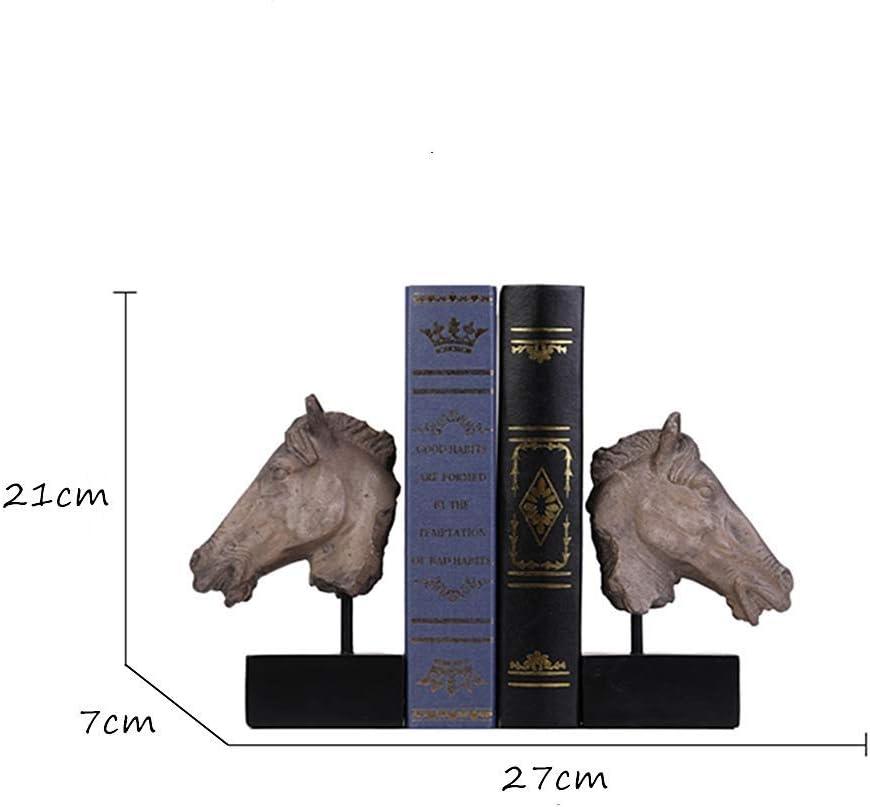Marco de lectura de resina soporte de libro cabeza de caballo de la estatua de p/éndulo servicio de decoraci/ón escultura sujetalibros soporte de la lima con el libro se destacan manualidades Libros bas