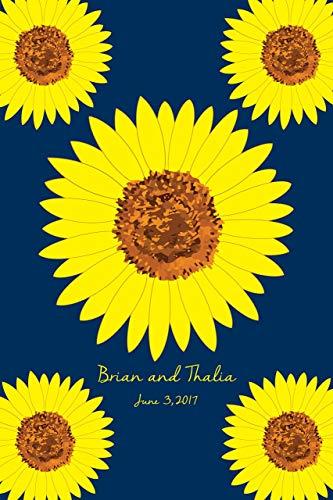 (Alternative Sunflower Wedding Guest Book - Guest Book Poster Print - Bridal Shower Alternative Guest Book Poster - 24x36-180 Signatures)