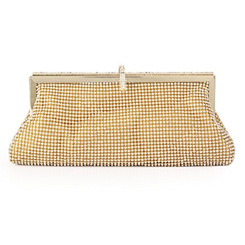 Wedding Sparkling Beading Gold Bags Damara Party Bridal Womens Evening qtOn5xw7