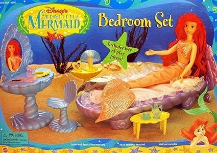 Amazon.com: Disney\'s The Little Mermaid Bedroom Set Playset ...