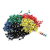 Aexit 800Pcs E4009 Audio & Video Accessories 12AWG Four Colors Tube Insulated Connectors & Adapters Cable Terminals