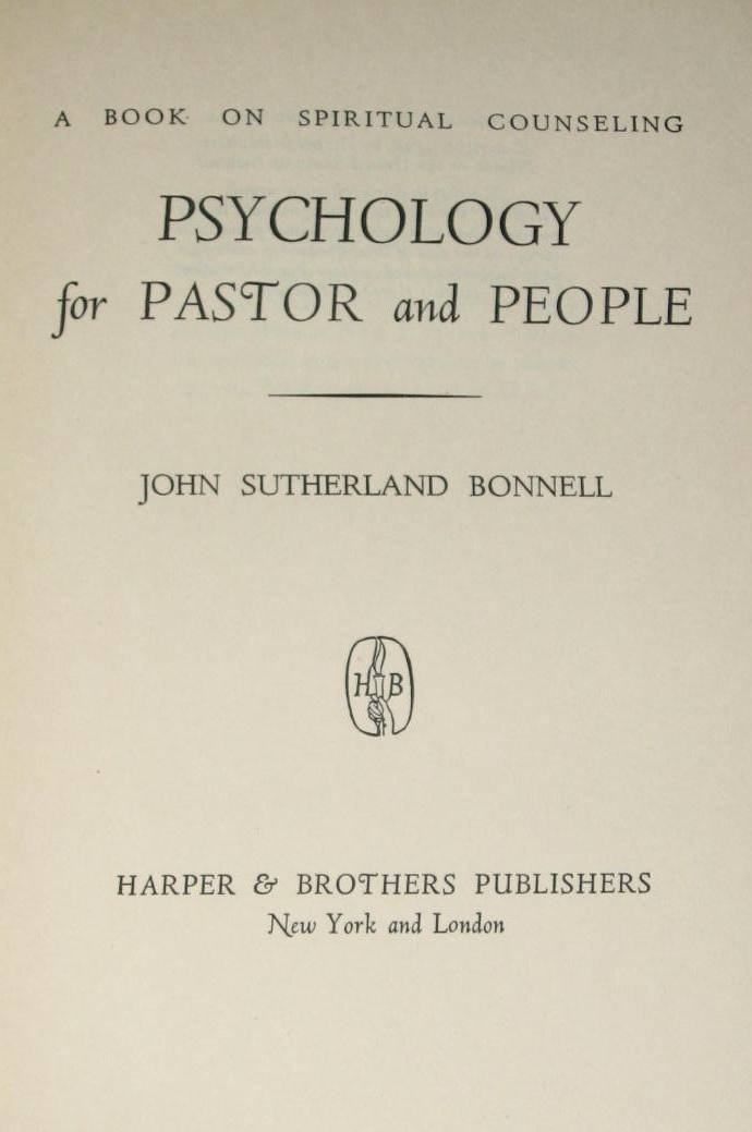 Spiritual Counseling Psychology For Pastor And People John