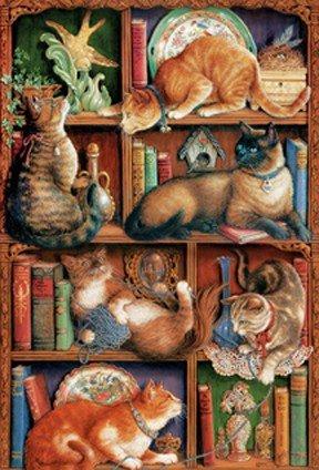Various Cobblehill 50710 2000 pc Feline Bookcase Puzzle