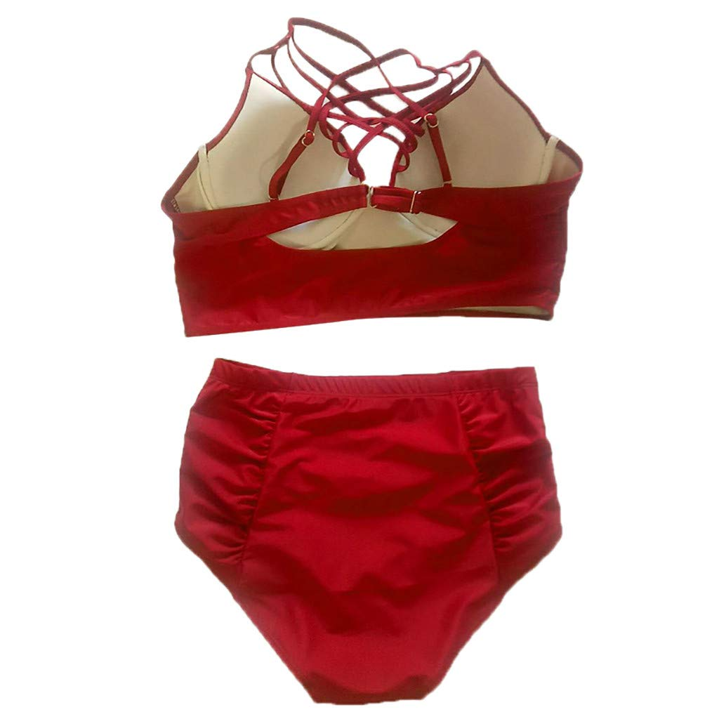 Floral Printed Swimwear Set Two Pieces Push Up Tankini with Boyshort Bikini Set Hopwin Womens Padded Swimsuit