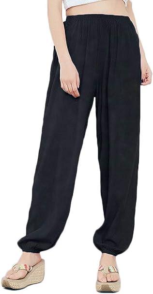 Amazon.com: zukzi Womens Cotton Loose Elastic Waist Harem ...