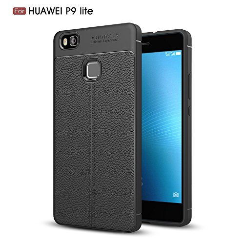 Huawei P9 lite Case, DAIBO Silicone Gel Rubber Perfect Slim Fit Soft Mobile Phone Case for Huawei P9 lite (5.2 inch) (2016year) - Black