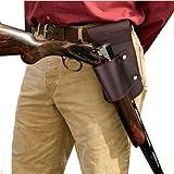 Tourbon Funda De Arma Marrón Vendimia Con Cinrurón Soportar Pistola RIfle