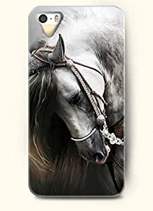 OFFIT Phone Case Design with Horse Lowering Its Head for Apple iPhone 4 4s 4g hjbrhga1544