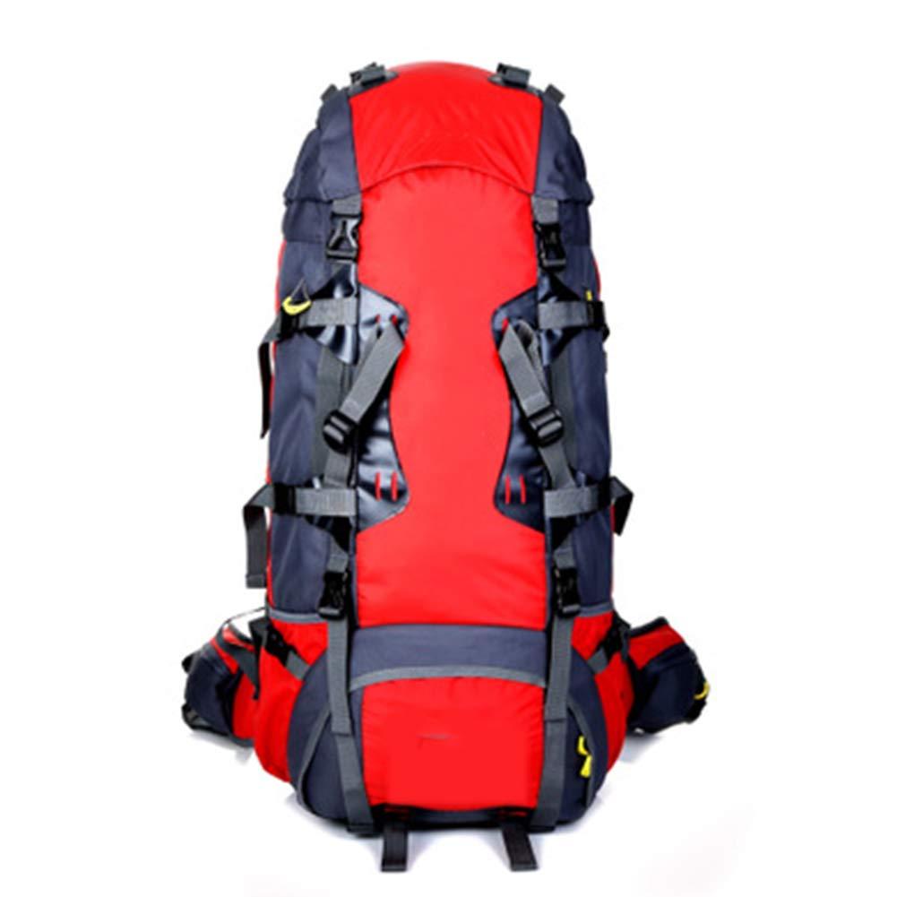 バックパック 登山バッグ、 80L ナイロン 防水材、 屋外ロッククライミング/旅行する、ユニセックス,red B07R1Y5Y1L red