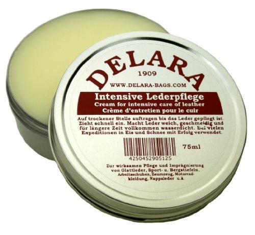 DELARA serviette en cuir de selle - bandoulière, épaulette et DELARA soins du cuir (75 ml) inclus - Fabriqué en Allemagne