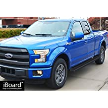 "Matte Black 5"" iBoard Running Boards Fit 15-17 Ford F-150 Super Cab"
