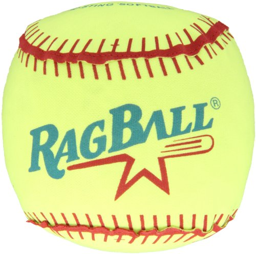 "Image of Sportime Ragball with Polyester Cover Softball, Yellow, 16"" Dia."
