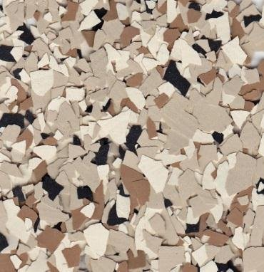 American Abrasive Supply, Vinyl Chip Blend B-421 Shoreline 1/4'' VCPBB42115