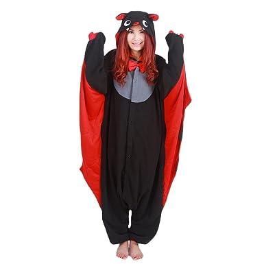 dgheere Costume Onesie Sleepwear Pajamas Cosplay Hoodie for Halloween Bat S