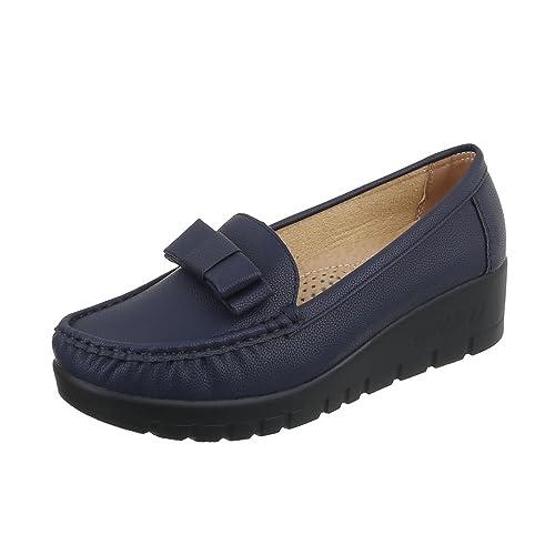 Zapatos Para Mujer Mocasines Plano Mocasines Azul Tamaño 39: Amazon.es: Zapatos y complementos