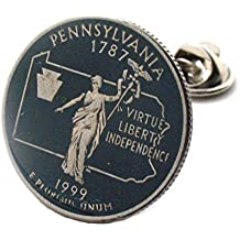 Pennsylvania Tie Tack Lapel Pin Suit Flag State Coin Jewelry USA Philly Philadelphia Pittsburgh