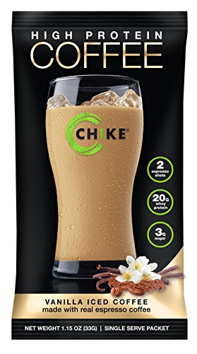 Chike High Protein Iced Coffee, 12 Single Serving Packets (Vanilla)