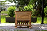 """36"""" Craftsman Style Reclaimed Wood Hand Crafted Barn Wood Library Side Table"""