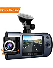 HD Dash Cam 1080P Full HD Car Camera with Sony Sensor, 170 Degree Wide Angle, Motion Detection, 180°Rotatable Lens, G-Sensor T1 Trekpow by ABOX