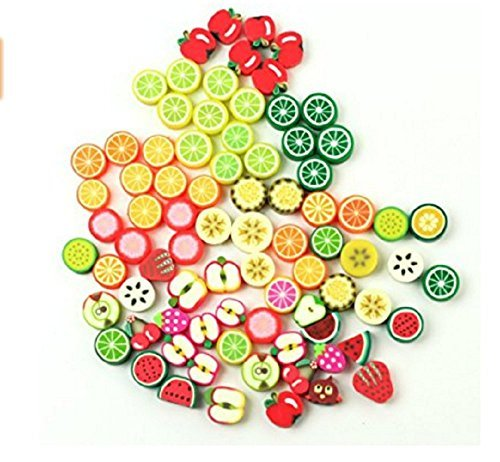 Dmeiling Diy Bracelet Beaded Crafts Jewelry Accessories Beads Beads 10mm Mixed Fruit Color Pony Beads Handmade Jewelry Beads 100pcs -