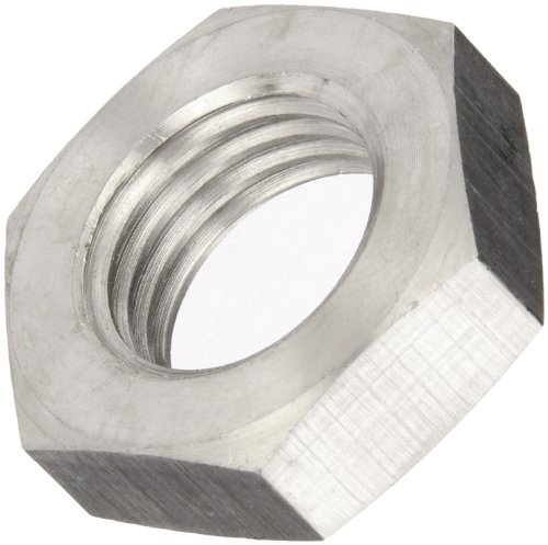 18-8 Stainless Steel Hex Nut, Plain Finish, DIN 934, Metric, M10-1.25 Thread Size, 17 mm Width Across Flats, 8 mm Thick (Pack of 5)