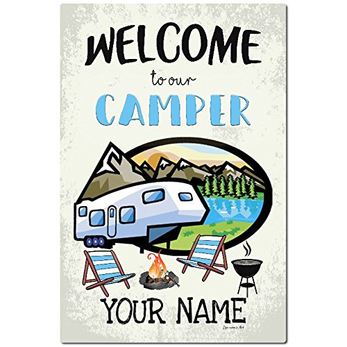 Personalized Camping Metal Sign Welcome Sign Camping Decor Outdoor Decor Camper Sign Wall Decor Trailer Sign Fifth Wheel carrotdnrl