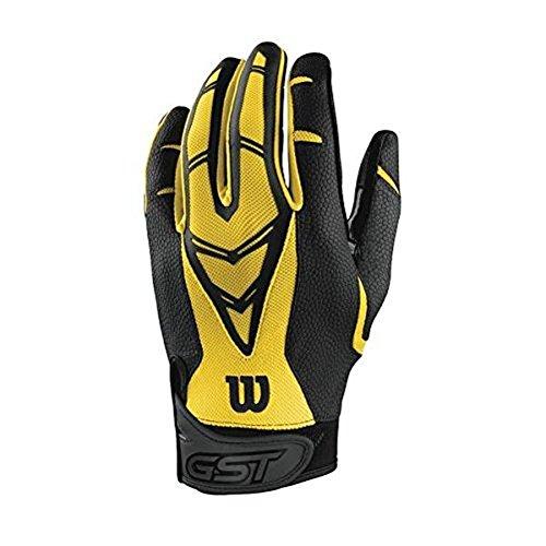 Wilson GST Skill Football Gloves Yellow, Adult XX-Large ()