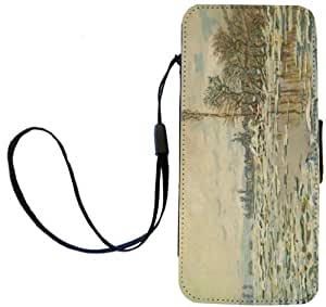 Rikki Knight Claude Monet Art Break up of Ice Flip Wallet iPhoneCase with Magnetic Flap for iPhone 5/5s - Break up of Ice by lolosakes by lolosakes