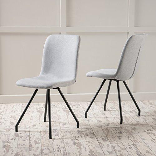 Sveltte Light Grey Fabric Dining Chair