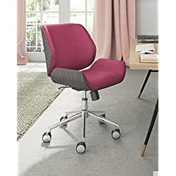 ELLE Décor Ophelia Bentwood Task Chair, French Fuchsia