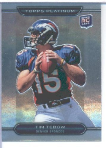 Tim Tebow Football (2010 Topps Platinum Football Rookie Card #79 Tim Tebow Mint)