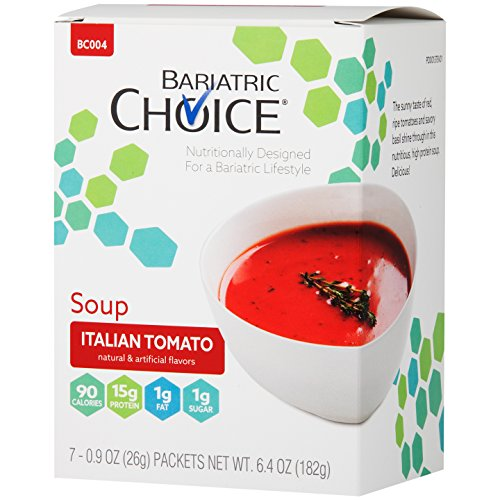 (Bariatric Choice High Protein Soup Mix/Low-Carb Diet Soup - Italian Tomato (7 Servings/Box) - Fat Free, Low Carb, Sugar Free)