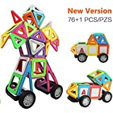 Innoo Tech Grandi Blocchi Costruzioni Magnetici 76 pezzi Giocattoli Educativi Kit Accatastamento Aggiornati per I Bambini
