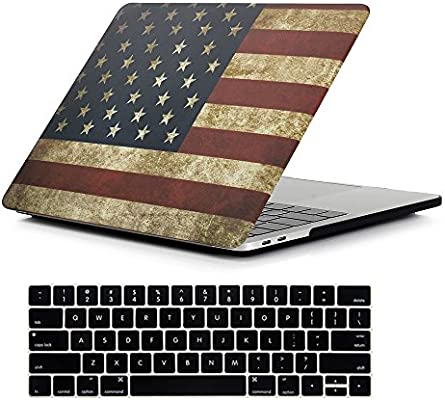 RYGOU Hard Case with Keyboard Cover Compatible MacBook Pro 13 inch with Touch Bar Touch ID Model:A1706 A1989