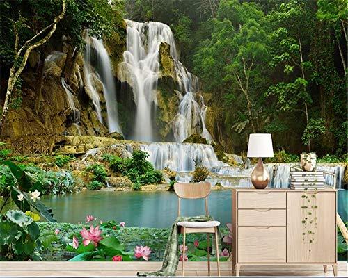 (Premium Wallpaper Bedroom Landscape Waterfall 3D Landscape Background Mural Wallpaper Home Decor Kids Wallpaper)