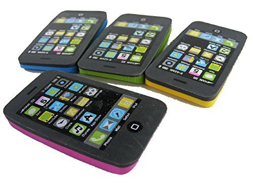 Kawaii iPhone Erasers - 4 Piece -
