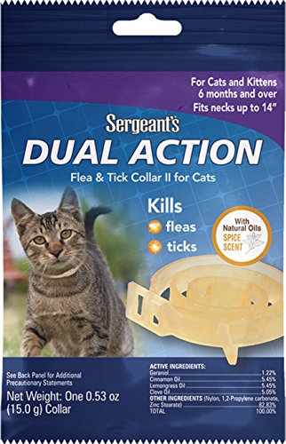 Sergeant S Dual Action Flea And Tick Collar For Cats