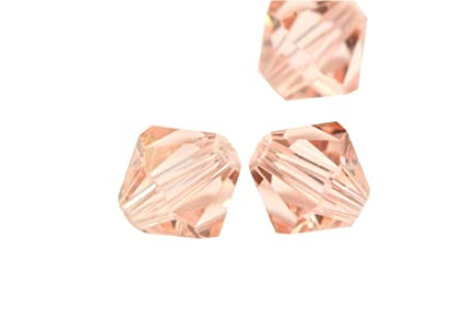8c70056e2 Image Unavailable. Image not available for. Color: 100pcs 3mm Adabele  Austrian Bicone Crystal Beads Light Padparadscha Compatible with Swarovski  ...