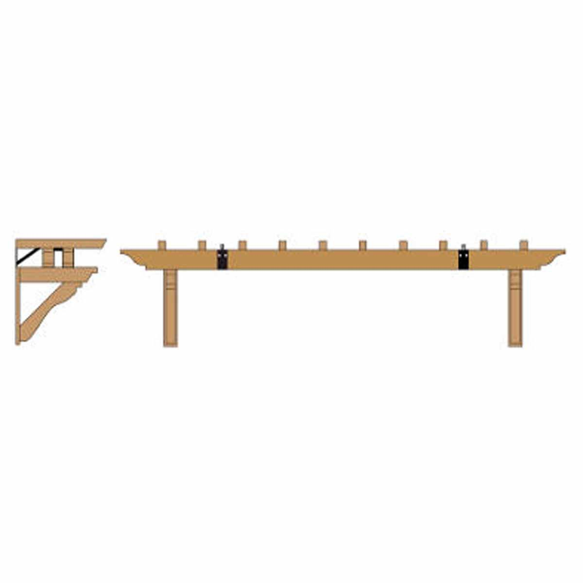 Fypon TRLS18988 Wood Grain Trellis Kit, Fits 8' and 9' Garage Doors