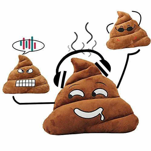 Poop Emoji Pillow, 13.8