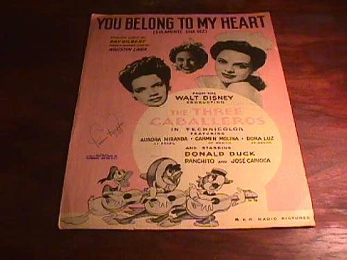 "You Belong to My Heart (From the Walt Disney production ""The Three Caballeros"", photo of Freddy Martin on back)"