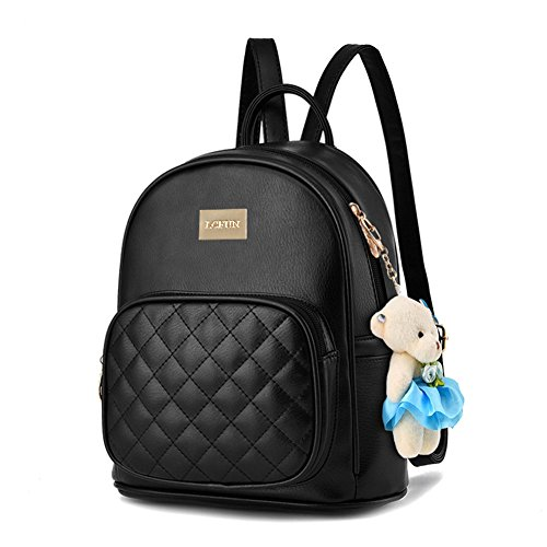 6e4f1587c45c Women Leather Backpack Purse Satchel School Bags Casual Travel Daypacks for  Girls. by lcfun