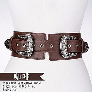 YANGFEIFEI-YD En la primavera de 2018 nueva doble cintura elástica stretch girl amplia embellecedor de la cintura y cubre un amplio, blanco: Amazon.es: ...