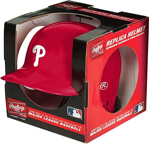 (Rawlings MLB Philadelphia Phillies Mini Replica Helmet, Red)