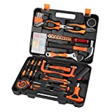 Renogy 46-Piece Tool Set General Household Hand Tool Kit Mixed Auto Repair Tools with Plastic Tool Box Case for Men and Women