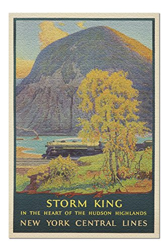- New York Central Lines - Storm King (artist: Greene, Walter L.) USA c. 1928 - Vintage Poster (20x30 Premium 1000 Piece Jigsaw Puzzle, Made in USA!)