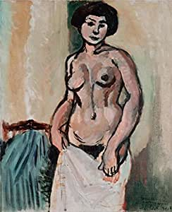 'Nude Woman By Henri Matisse' oil painting, 16x20 inch / 41x50 cm ,printed on Cotton Canvas ,this Replica Art DecorativeCanvas Prints is perfectly suitalbe for Home Office artwork and Home decor and Gifts