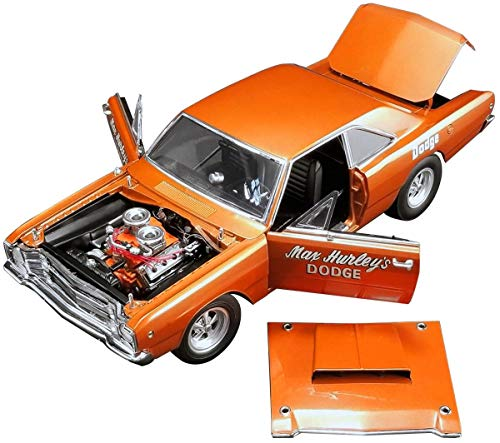 1968 Dodge Hemi Dart Max Hurley's Dodge Orange Limited Edition to 582 Pieces Worldwide 1/18 Diecast Model Car by ACME A1806401