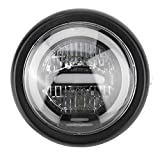 Duokon Headlamp, 6.5inches LED Headlamp for Vintage Motorcycle Light Refit High Low Beam(white)