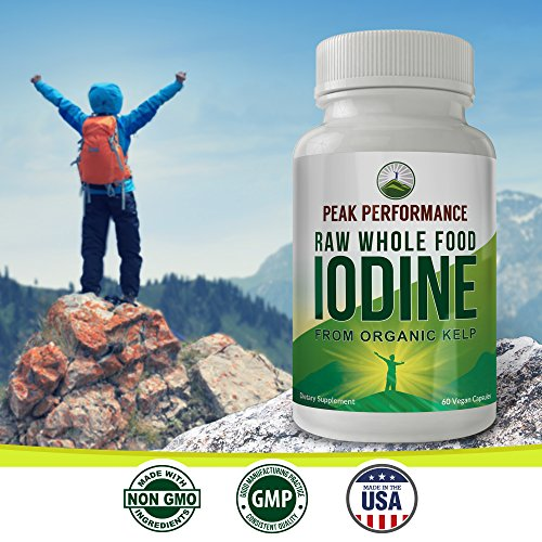 Raw Whole Food Iodine From Organic Kelp (Ascophyllum Nodosum) By Peak Performance. Thyroid Support Supplement. Great For Metabolism, Energy and Immune Boost - 60 Vegan Capsules by Peak Performance Coffee (Image #4)